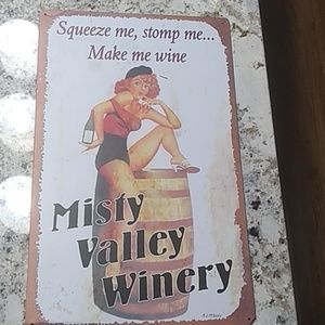 Misty Valley Winery vintage sign